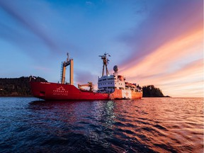 The 67-metre Polar Prince is a former Canadian Coast Guard vessel being used by the Canada C3 expedition for a 150-day coastal exploration on the Atlantic, Arctic and Pacific oceans.