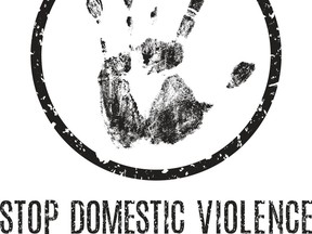 Stop domestic violence poster.