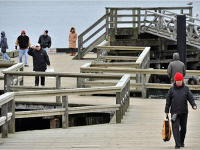 Vancouver's aging wooden Jericho Beach Pier. A park board report recommends replacing it with a $16 million steel and concrete structure with more amenities.