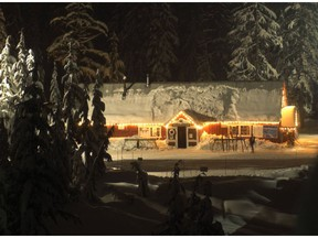 Hollyburn Lodge on Cypress Mountain is a great snowshoe destination.
