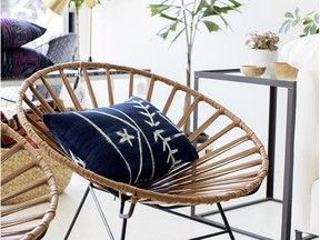 PURE Pillows, by Pure Design, designed and made by Ami McKay and Salma Mohammad Photo: Janis Nicolay for The Home Front: Giving back with home decor by Rebecca Keillor [PNG Merlin Archive]