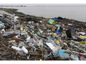 CLIFFE, KENT - JANUARY 02:  Plastics and other detritus line the shore of the Thames Estuary on January 2, 2018 in Cliffe, Kent. Tons of plastic and other waste lines areas along the Thames Estuary shoreline, an important feeding ground for wading birds and other marine wildlife. According to the United Nations Environment Programme (UNEP), at current rates of pollution, there will likely be more plastic in the sea than fish by 2050. In December 2017 Britain joined the other 193 UN countries and signed up to a resolution to help eliminate marine litter and microplastics in the sea. It is estimated that about eight million metric tons of plastic find their way into the world's oceans every year. Once in the Ocean plastic can take hundreds of years to degrade, all the while breaking down into smaller and smaller 'microplastics,' which can be consumed by marine animals, and find their way into the human food chain.