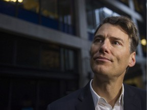 Mayor Gregor Robertson announces new, affordable rental housing projects for people living in Vancouver's Downtown Eastside on Jan. 16, 2018.