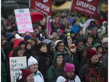 Almost five thousand people took part in the annual Women's March in Vancouver, BC Saturday, January 20, 2018. Similar marches were held around the world in order to combat the rise of white nationalism, misogyny and xenophobia.