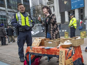 An open-air weed market that had been operating in downtown Vancouver's Robson Square has been shut down by police.