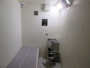 A solitary confinement cell, from the Office of the Correctional Investigator. A B.C. Supreme Court judge has struck down a law that permits federal prisons to put inmates into solitary confinement indefinitely.