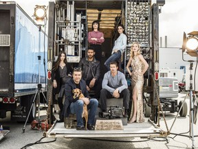 The cast of the Vancouver-shot show UnReal. The hit LIfetime series returns for season three on Feb. 26.