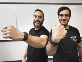 Lukas-Karim Mehri and Gautam Sadarangani, of BioInteractive Technologies, have developed a gesture recognition wristband that has drawn the attention of Techstars, a major U.S.-based accelerator.