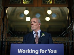 'If you pay tax in B.C., you are not speculating from outside B.C.,' Premier John Horgan told an audience at the Vancouver Board of Trade on Feb. 23.