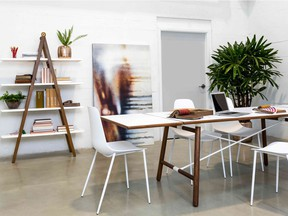 Furniture by online home furnishings company Article, which blurs the line between home and work Photo: Article for The Home Front: Furniture designers respond to a changing work landscape by Rebecca Keillor [PNG Merlin Archive]