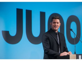 Michael Buble at the press conference announcing he would be the host of the 2018 Juno Awards in Vancouver.