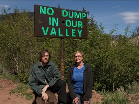 """Botanie Valley residents Abe Kingston (left) and Tricia Thorpe opposed plans of Surrey-based Northwest Waste Solutions to import Lower Mainland organic waste to their """"organic soil farm""""."""