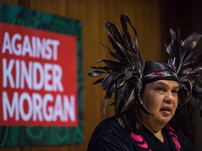 Rueben George, Project Manager for the Tsleil-Waututh Nation Sacred Trust Initiative, speaks late last year about a federal court hearing on the Kinder Morgan Trans Mountain pipeline expansion.