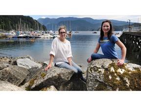 Megan Curren, left, owner of Room6, and Jennifer McCarthy of BluHouse Market & Cafe say plastic straws need to go because of the harm they do to the environment, oceans and marine life.