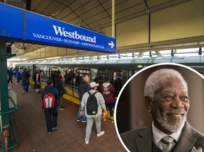 Morgan Freeman's voice will make TransLink announcements for a limited time, to coincide with the new tap-to-pay feature on board buses.