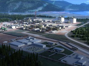 Rendering of part of the proposed LNG Canada plant in Kitimat.