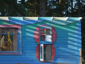 The Blue Cabin by Jeremy Borsos. Photographs were taken for the catalogue for the Blue Cabin Exhibition by Jeremy Borsos and Sue Borsos at grunt gallery, June 15, to July 28, 2018.  [PNG Merlin Archive]