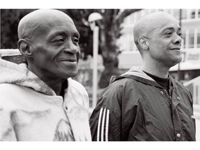 Mike Henry (left), with his longtime friend Bryan Alleyne. Henry was a persistent advocate for safer drug use in the Downtown Eastside for three decades. [PNG Merlin Archive]