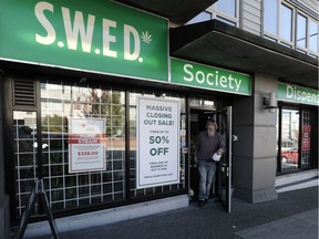 Cannabis dispensaries offer deals in readiness for the legalization of cannabis in Vancouver, BC., October 15, 2018.