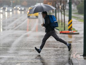 A rain warning is in effect for some parts of Metro Vancouver Friday.
