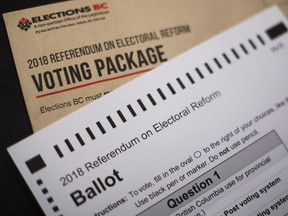 The 2018 referendum on electoral reform package and mail-in ballot from Elections B.C.