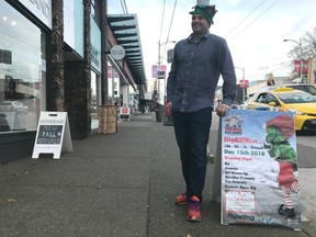 Baxter Bayer, the owner of Running Tours Inc. in Kitsilano and the brains behind the popular Big Elf Run, is getting ready to host the fourth annual festive fun run in Stanley Park on Saturday, Dec. 15.