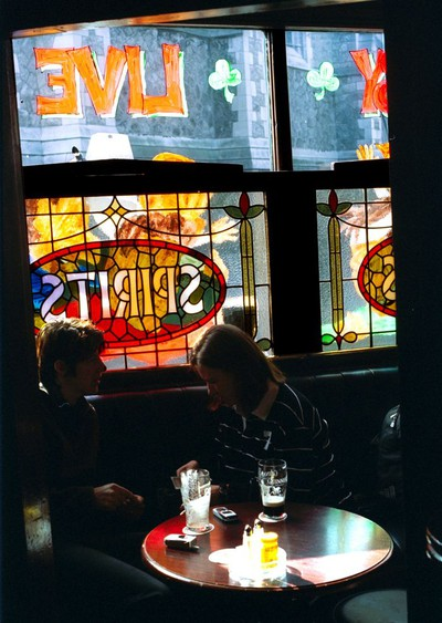 Customers enjoy a drink in one of the many nooks and crannies inside O'Neill's, which has existed as licensed premises for over 300 years.
