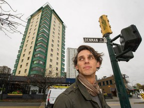 Andre Duchene outside Berkeley Tower, where there is talk about how a groundswell of community opposition can snarl a developer's plans even when they meet and go beyond the legal requirements.