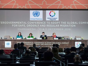 The closing ceremony of the Global Compact for Migration in Marrakesh on Tuesday.