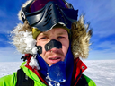 Colin O'Brady in Antarctica. He made the 1,500-kilometre journey across the continent in 54 days.