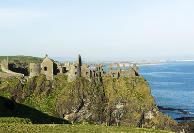 Old Bushmills - the home of Irish whiskey. NORTHERN IRELAND. One Time Use Only. Historic Dunluce Castle along the Causeway Coast is only a stoneís throw from Old Bushmills and is well worth a visit. Photo credit: Paul Marshall . [PNG Merlin Archive]