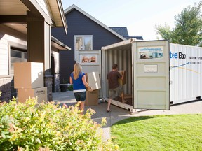 """People are increasingly using supplemental storage companies in an effort to declutter their homes and """"prioritize"""" their belongings.  Photo: BigSteelBox for The Home Front: Using storage solutions to declutter your home by Rebecca Keillor [PNG Merlin Archive]"""