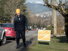 NDP Leader Jagmeet Singh campaigns in a Burnaby, B.C. neighbourhood for the upcoming byelection, Jan. 12, 2019.