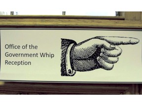 The office of the government whip gives our prime ministers and premiers an incredibly big stick, making them in effect 'friendly dictators.' (Photo: B.C. legislature. Source: Whipped: The Secret World of Party Discipline).