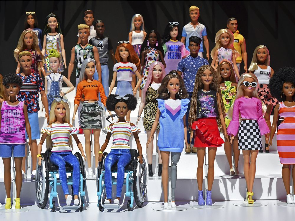 Shown at the New York Toy Fair, Friday, Feb. 15, 2019, the Barbie Fashionistas line continues to be the most diverse and inclusive fashion doll line on the market. The 2019 collection features a doll in a wheelchair, prosthetic limb, new body type and hair texture.