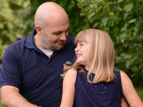Gabe Batstone with his daughter Teagan. Teagan's mother has been found guilty of murdering the girl in 2014.