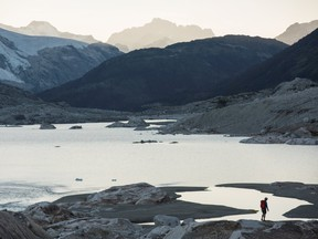 View from above Ape Lake and Ape Glacier near Bella Coola.