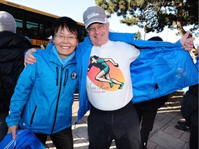 John and Joan Young organize the Forever Young Club, a group of seniors who run for fun and are training for the Sun Run in Steveston, BC., March 4, 2019.