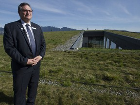 Vancouver Convention Centre West general manager Craig Lehto on the roof of the centre April 2.