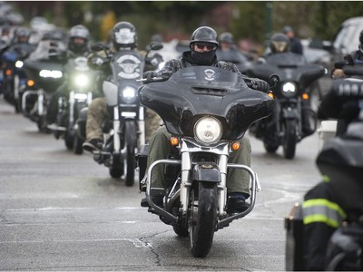 Approximately 100 Hells Angels members and affiliated clubs rallied at the HA East End Chapter on Saturday, April 6, 2019, as part of the Screwy Ride. The annual event is a memorial ride for slain Hells Angel member Dave 'Screwy' Swartz.