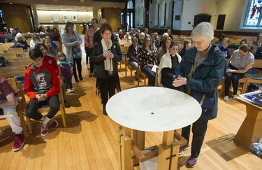 The faithful gathered at Christ Church Cathedral in Vancouver for the Good Friday Observance for Everyone service on April 19, 2019.