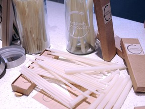 Rice Straw Technologies' straws made from rice and tapioca.