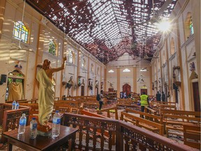 Few North Americans realize that — before Sunday's explosions in Sri Lanka — there had already been scores of devastating terrorist attacks in the month of April. (Photo: The roof of St. Sebastian's Church in Sri Lanka is nearly blown off after the Easter Sunday bombings that rocked the world.)