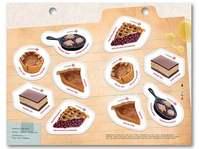 Canada Post Sweet Canada stamp series featuring the Nanaimo bar stamp