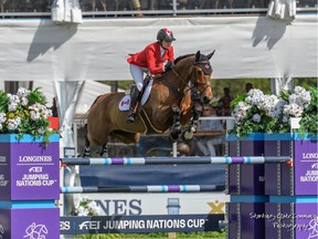 Canadian Tiffany Foster rides Figor in a Nations Cup series event in February at Wellington, Fla.