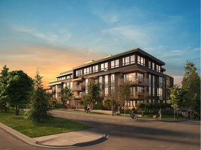 An artist's rendering of Amber at Douglas Park, a project from Aragon Properties in Vancouver. [PNG Merlin Archive]