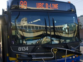 The new 41st Avenue B-Line will connect Joyce-Collingwood on the SkyTrain to the University of B.C. TransLink said it will mean increased service every three to six minutes in peak periods.