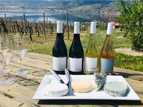 Cheese and wine tasting at Poplar Grove Cheese in Penticton.