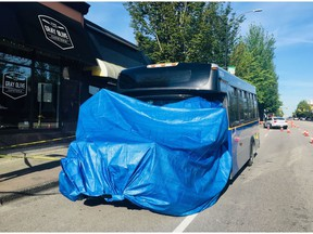 A TransLink-operated bus was involved in a collision June 11, 20-19 on Hastings Street in Burnaby. One pedestrian was seriously injured and later died in hospital.