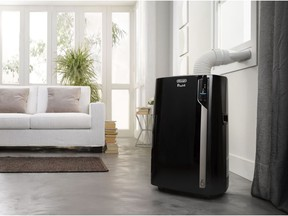 The De'Longhi Pinguino Wi-Fi 3-in-1 portable air conditioner cools a room up to 700 square feet, is on castor wheels for portability, and has an app that allows the unit to be monitored and controlled from a smartphone or tablet. Photo: De'Longhi for Cooling down the house by Rebecca Keillor [PNG Merlin Archive]